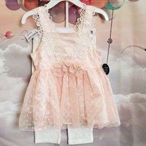 """Nicole miller"" girl 2 pc set"